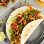 Spicy chipotle beef carne asada fajitas