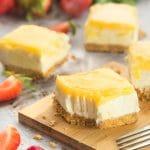 Lemon curd yogurt cheesecake bars
