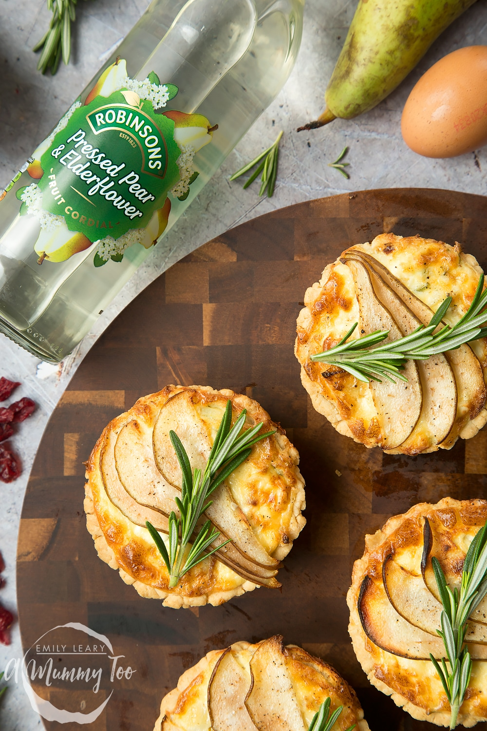 Serve these rosemary goat's cheese tarts with Robinsons fruit cordials for the perfect Summer lunch!