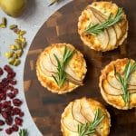 Rosemary goat's cheese tart with sliced pear, inspired by Robinsons