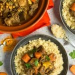 Aromatic slow cooker lamb and veg tagine