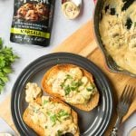 Creamy marsala mushrooms on toast with Just a Splash