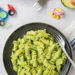 Quick green pasta sauce from Living on the Veg