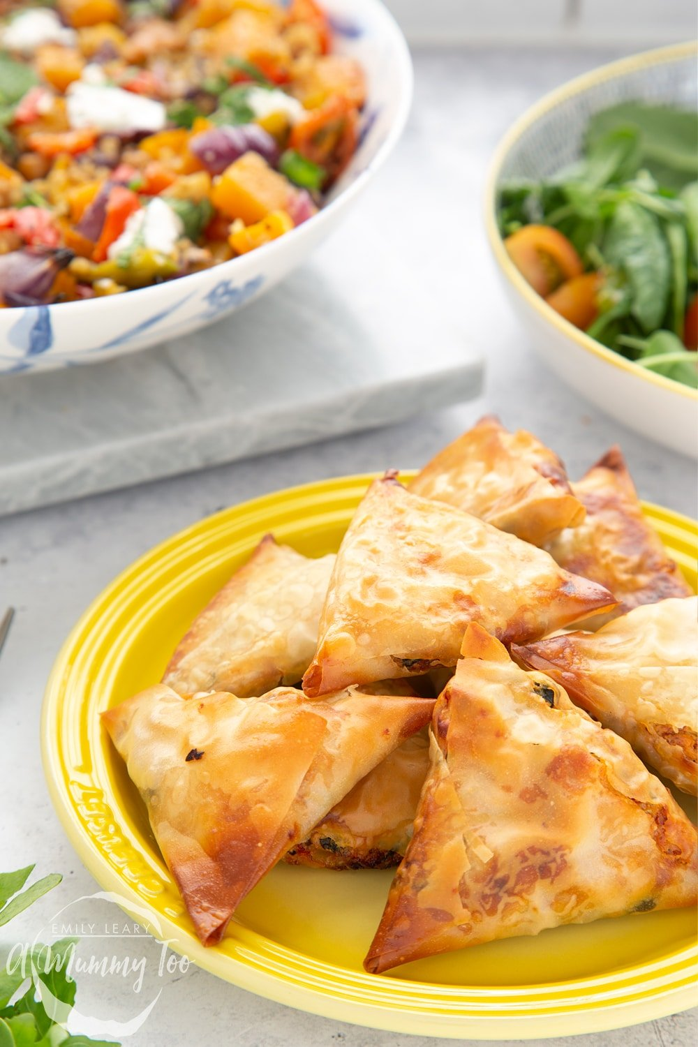 These olive and sun-dried tomato filo parcels taste delicious hot or cold, served with a salad