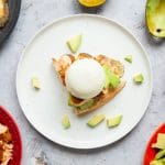 Avocado toast with roasted sweet chilli salmon – 4 ingredient, 10 minute brunch