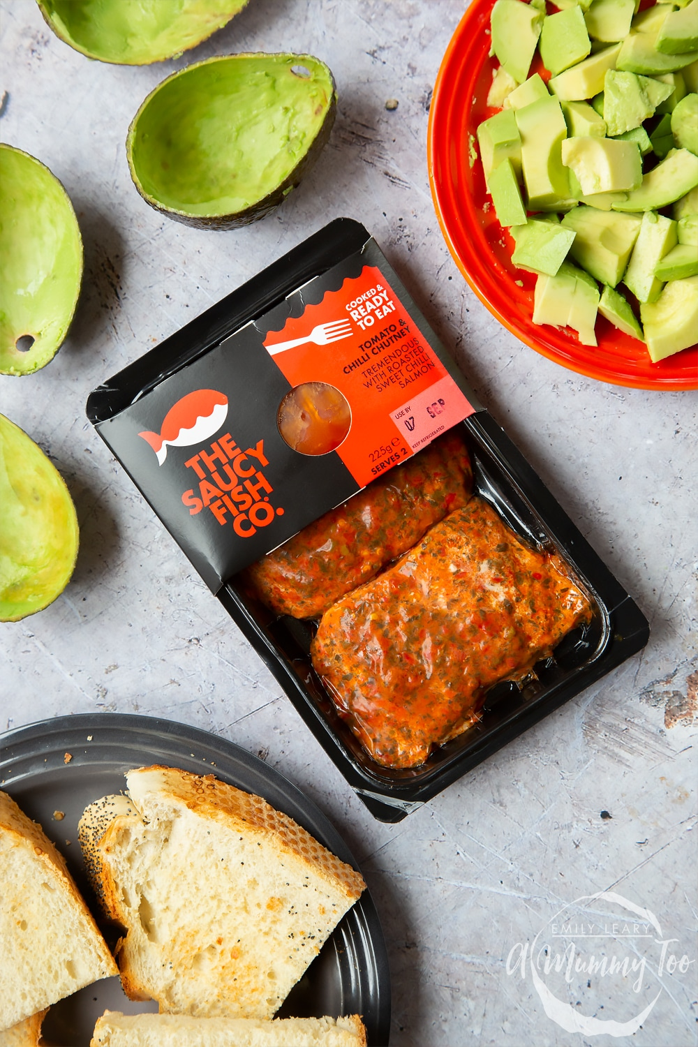 the saucy fish co packet of tomato and chilli chutney which is used to create the sweet chilli salmon