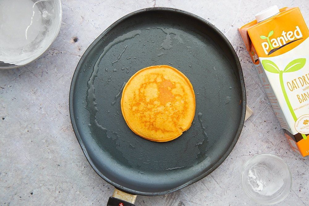 Flip your sweet potato pancake