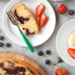 Blueberry cake – baked in the ActiFry