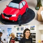 Baking a ŠKODA Fabia cake with Candice Brown