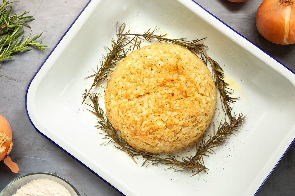 Bake your onion pudding in the oven