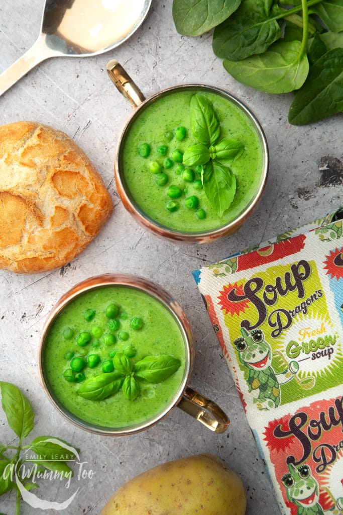 This fresh green soup is wonderful served with crusty bread, as shown here