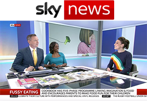 Emily Leary on Sky News promoting her new book Get Your Kids To Eat Anything