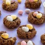 Healthier Easter chocolate nest cookies