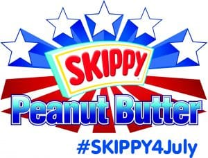 The Skippy Logo. I'm working together with Skippy to  create these peanut butter brownies.
