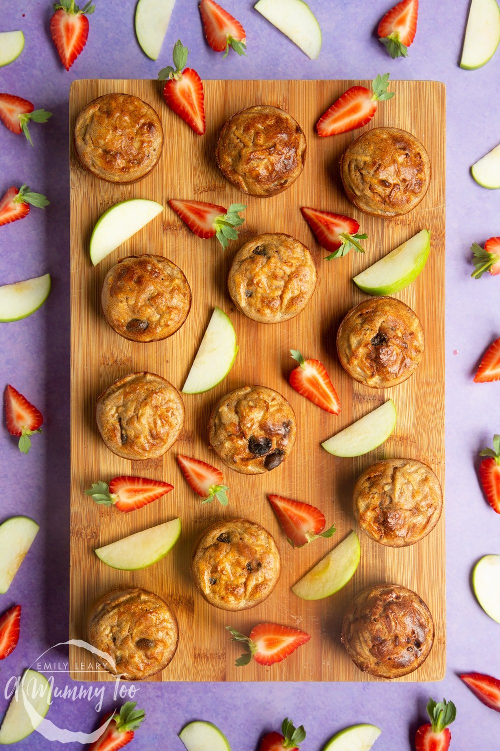 No junk apple and strawberry muffins recipe