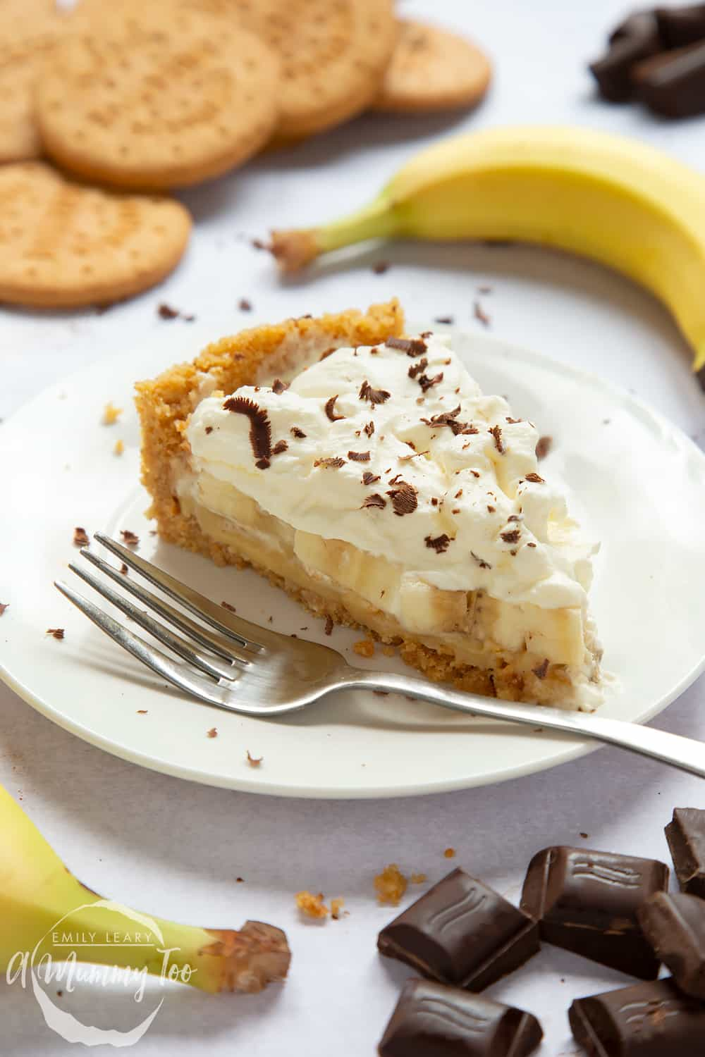 The perfect classic banoffee pie recipe - slice on a plate