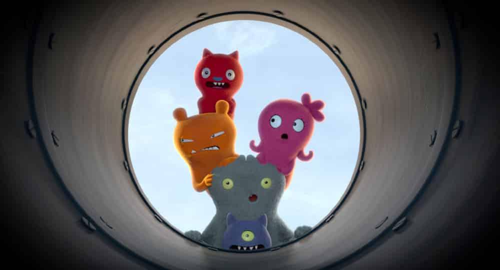 UglyDolls Movie - a still showing the UglyDolls looking down a tunnel