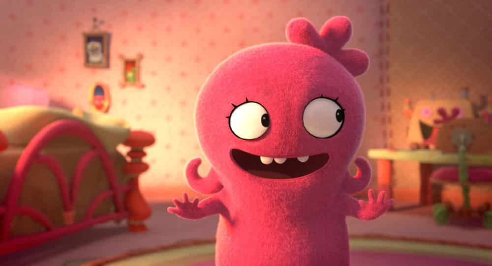 UglyDolls movie - a still showing an excited UglyDoll
