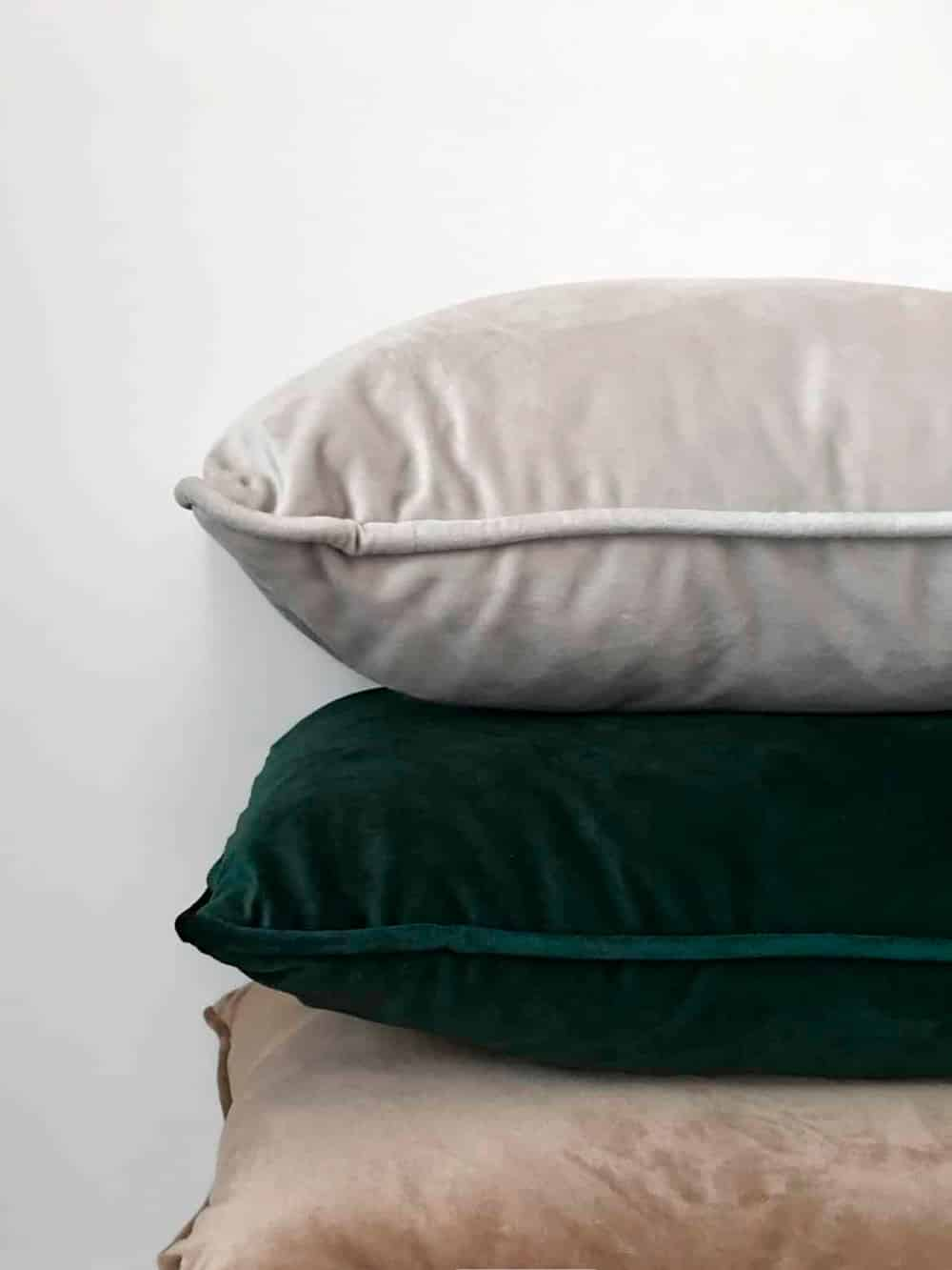 A stack of pillows