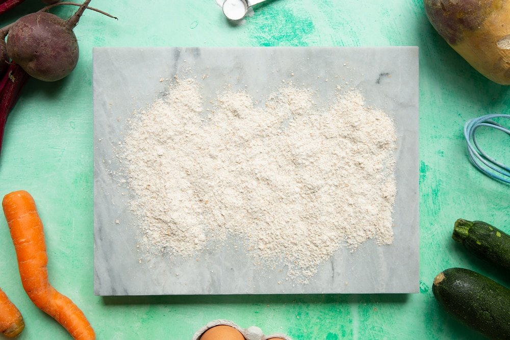 Vegetable soda bread rolls recipe - a well floured board.