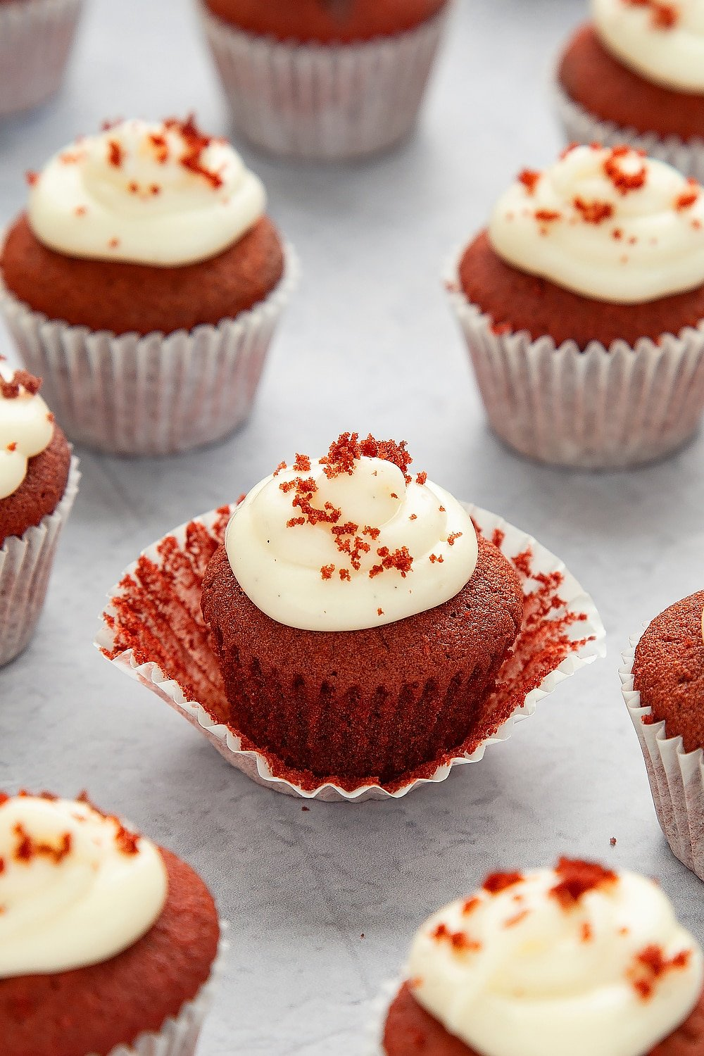 Mini Red Velvet Cupcakes With Cream Cheese Frosting A Mummy Too