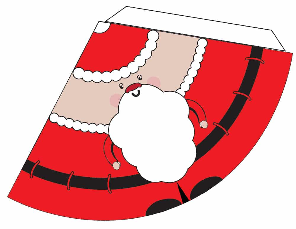 Full colour santa clause which can be cut out and stuck together to create a 3D Character.