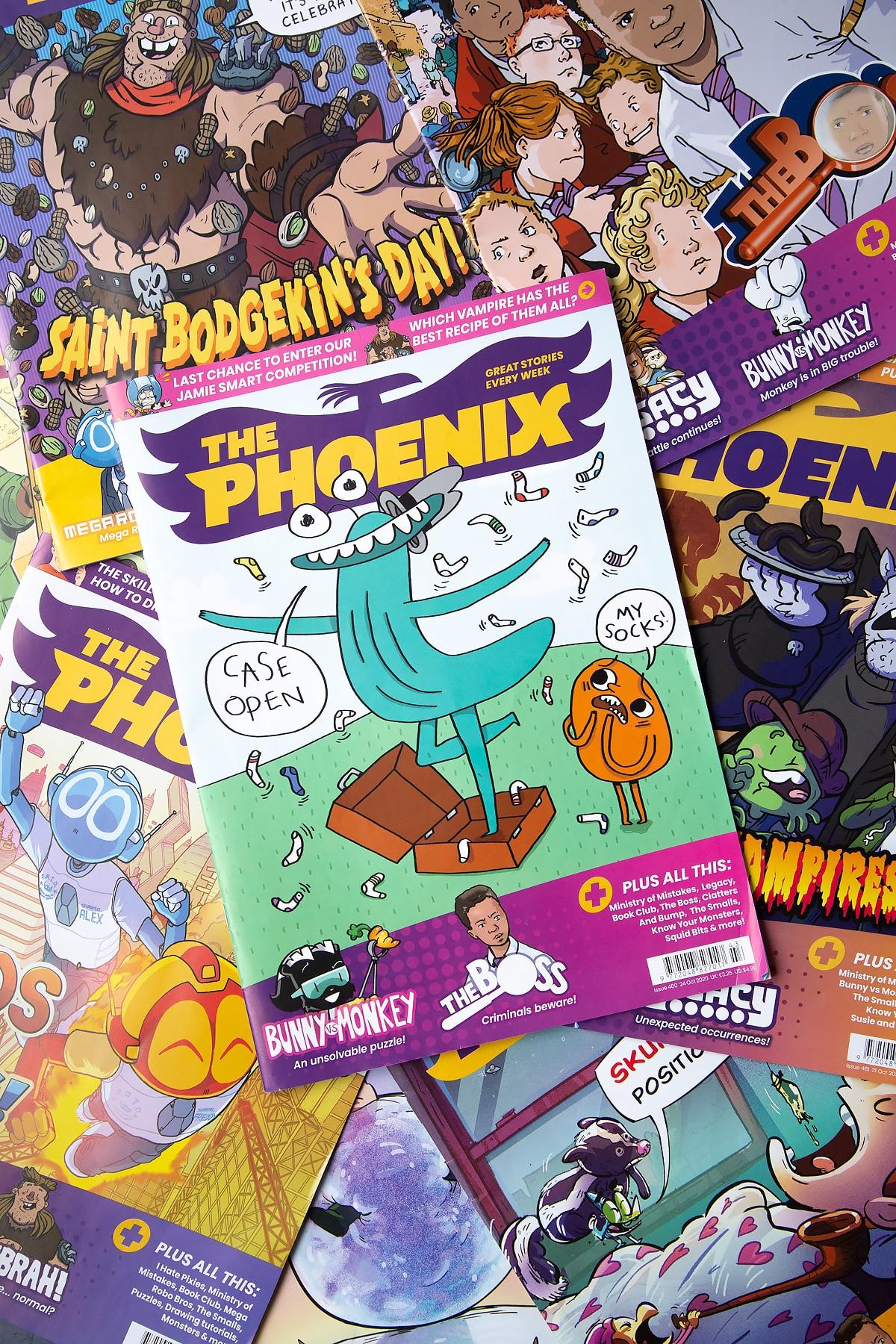 The Phoenix magazine on top of other Phoenix magazines.